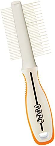 WAHL Premium Flea, Hair Pick, Finishing Comb with Ergonomic Grips for Dog Grooming, Brushing, Detangling, and Flea Removal