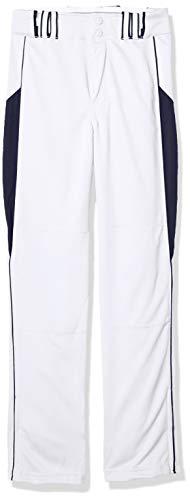 CHAMPRO Youth Triple Crown Baseball Pant, White/Navy, Medium