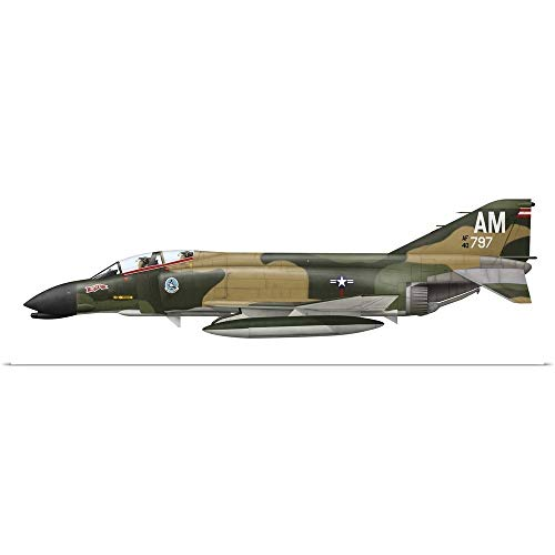 - GREATBIGCANVAS Poster Print Entitled Illustration of an F-4C Phantom II of The U.S. Air Force by Ink Worm 36