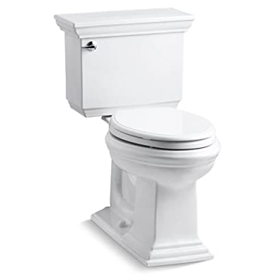 KOHLER Memoirs Comfort Height Two-Piece Elongated 1.6 gpf Toilet with Stately Design
