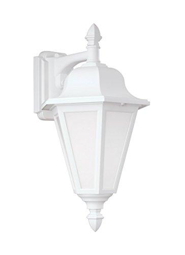 SG 89825-15 Brentwood 1L LANTERN-15 Wall Lantern, White (Wall Downlight 1l)