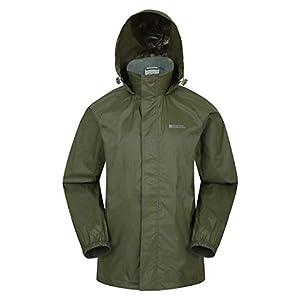Mountain Warehouse Veste imperméable Pakka pour Homme – Veste à Capuche Pliable, Manteau à Haute visibilité, Veste de…