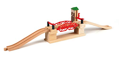 Drop Monorail - BRIO 33757 Lifting Bridge | Toy Train Accessory with Wooden Track for Kids Age 3 and Up