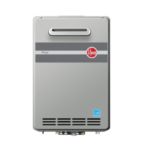 Rheem RTGH-95XLP Prestige Propane Outdoor Whole House Low NOx Condensing Tankless 9.5 GPM Water...