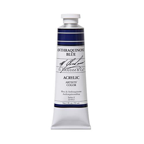 M. Graham 2-Ounce Tube Acrylic Paint, Anthraquinone Blue ()