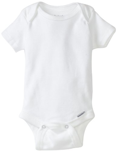 Gerber Brand 4 Pack Organic Bodysuits Brand, White, 0-3 Months