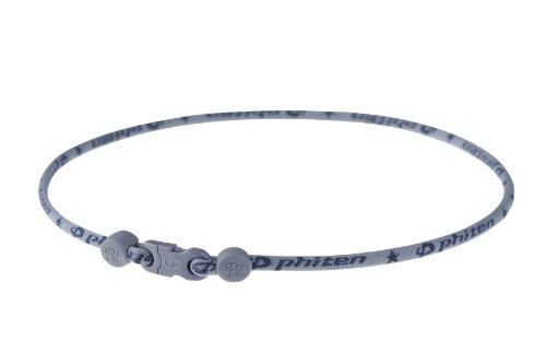 Phiten Star Necklace, Navy Gray, 22