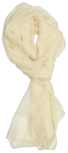 Ted and Jack - Solid Silk Lightweight Accent Scarf (Ivory)