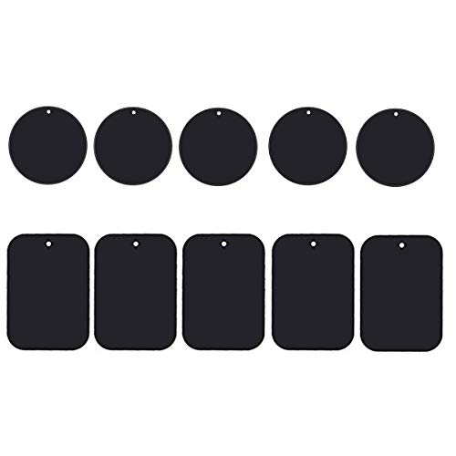 Phone Magnet Sticker, Uuustar 10PACK Metal Plates with Full Adhesive for Magnetic Car Mount Phone Holder (10PACK)