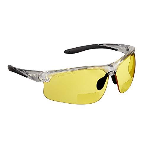 voltX 'CONSTRUCTOR ULTIMATE' Bifocale leesveiligheidsbril (helder frame, gele lens +3.0 Dioptri) CE EN166FT…