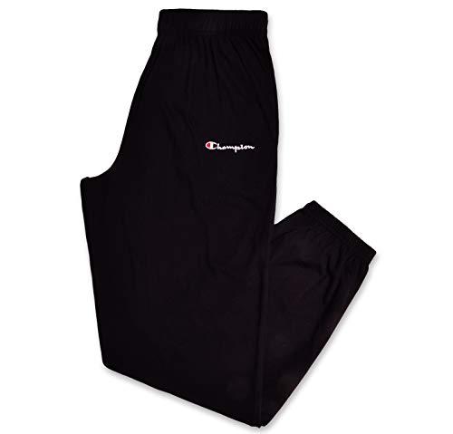 - Champion Mens Big and Tall Logo Lounge Workout Sweatpant Black XLT