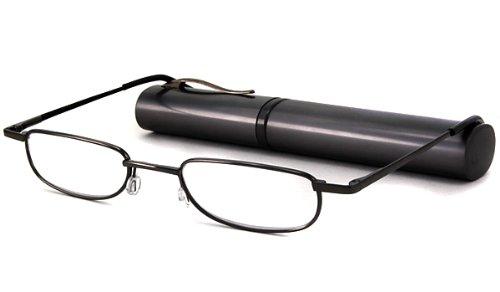 Able Vision Reading Glasses - BPR36 Tube Gunmetal / BPR36 GUNMETAL TUBE +3.25-BPR36GUN325