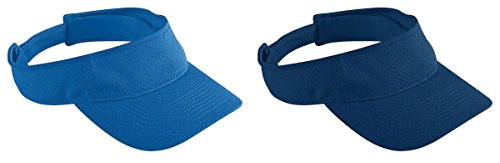Augusta Sportswear Big Boy's Athletic Mesh Visors Set_ROYAL & (Royal Youth Visor)