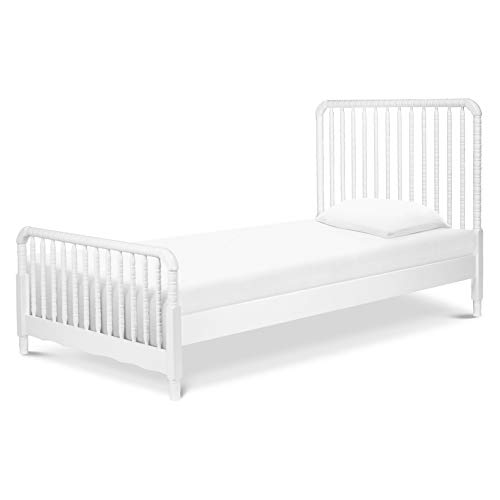 - DaVinci Jenny Lind Twin Bed with Wood Spindle Posts, Mattress Support Slats Included, White