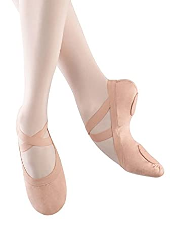 Bloch Dance Pro-Elastic Ballet Flat (Little Kid),Pink,13 D US Little Kid
