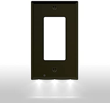 Metal Light Switch Plate Cover Brown Home Decor Hearts No Place Like Home