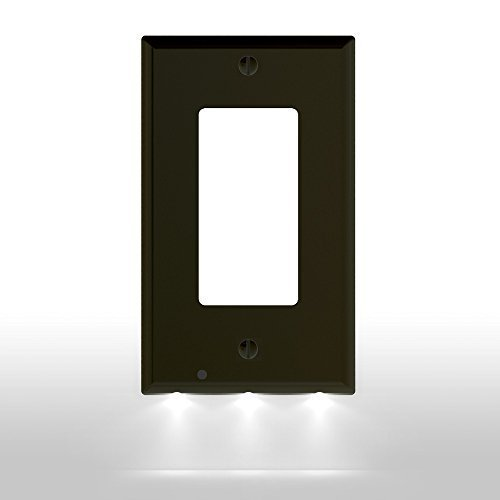 (1 Pack SnapPower GuideLight - Outlet Wall Plate With LED Night Lights - FOR OUTLETS - (Décor,)