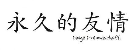 Bilderdepot24 Tatuajes de pared Simbolos chinos (Amistad Eterna ...