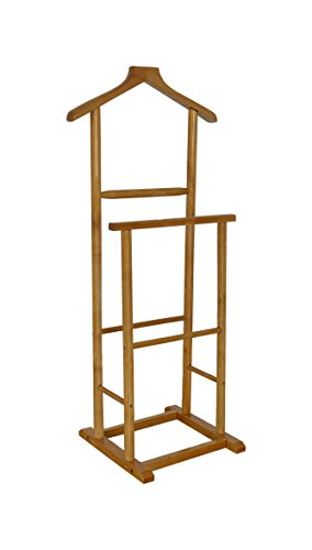 The Urban Port C209-123115 Antique Antiqued Double Men Suit Valet Stand with Suit Hanger by Urban - Suit Stand Mens
