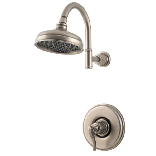 Price Pfister R89-7YPE Ashfield Shower Only, Ashfield Lever Handle, Round Flange, Decorative Shower
