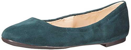 Nine West Women's Girls Nite Suede Ballet Flat - Dark Gre...
