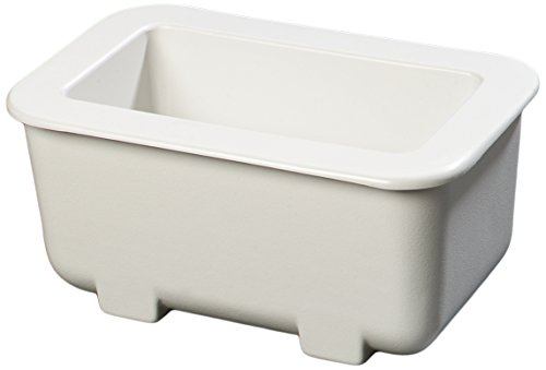 Carlisle CM104502 Coldmaster Third Size Insulated Cold Pan Holder, 7.5 Quart Capacity, 6'' Deep, White by Carlisle