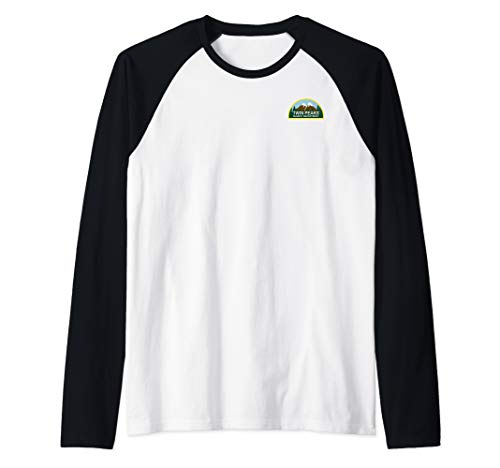 Sheriffs Department Patch - Twin Peaks Sheriff Department Faux Law Patch Raglan Baseball Tee
