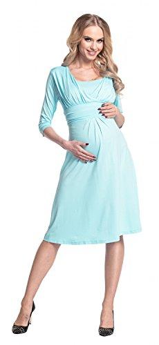 526p l'allattamento Azzurro per 4 Happy Abito Mama 3 Vestito maniche prémaman Donna qgqwRv4X