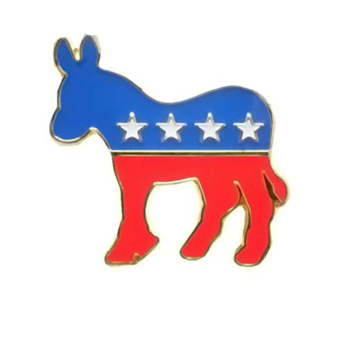 Lapel Democrat Donkey Pin (Democrat Donkey Lapel Pin 28mm Hat Tie Tack Badge Pin)
