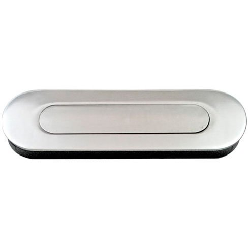 Jako WFH114 Oval Flush Pull - Stainless Steel, with Spring Loaded Cover