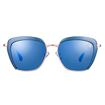 8877e3d109bad Tom Martin UV–400 Protected Sunglasses –Veronica– Butterfly– Gold – Blue (