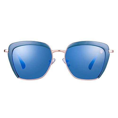 0a11bdf925 Tom Martin UV–400 Protected Sunglasses –Veronica– Butterfly– Gold – Blue (