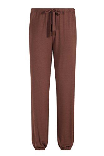 ZSHOW Men's Cotton Yoga DressPants Knit Elastic Waistband Long Pants Leisure Wear(Coffee,M)