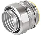 1-1/4 Inch Stainless Steel Straight Liquid-Tight Connector-1 per case