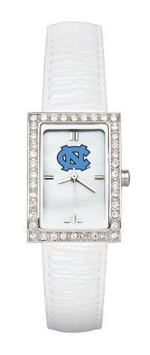 North Carolina Tar Heels Ladies Allure Watch White Leather Strap