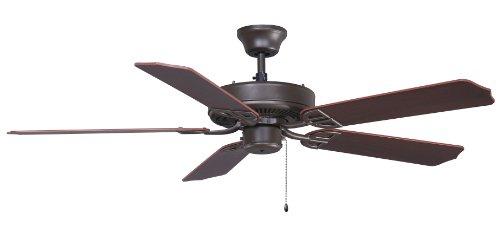 Fanimation BP200OB1-220 52-Inch Aire Decor Builder 5-Blade Ceiling Fan with 220-Volt White Bulb, Oil Rubbed Bronze ()