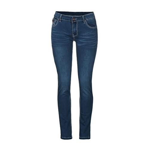 Familizo Femmes Glissire Skinny Pantalon Bleu fonc Extensible Jean Slim rrqvwn6Ad