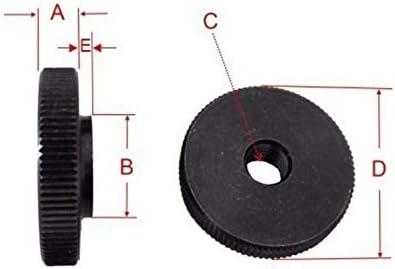/Pl/ástico con rosca de acero galvanizado /Tuerca moleteada/ /M6/ 20/unidades/