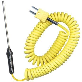 Digi-Sense Type K Thermocouple Probe; General-Purpose Penetration, Coiled Cable