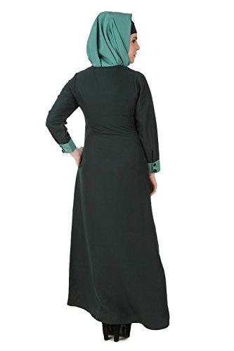 MyBatua Dark & Light Green Kashibo Musulman Vêtements de loisirs & de mode Burqa Abaya AY-501