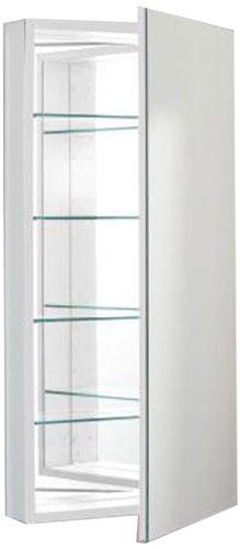 Robern PLM2040W Pl-Series Flat Mirror Medicine Cabinet, White