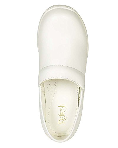 Refresh Women Leatherette Round Toe Slip On Clog BH36 - White (Size: 8.0) by Refresh (Image #3)'