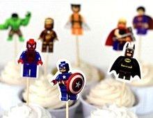 Avengers Cupcake Toppers Lego Avengers Cake Toppers 24 Picks -