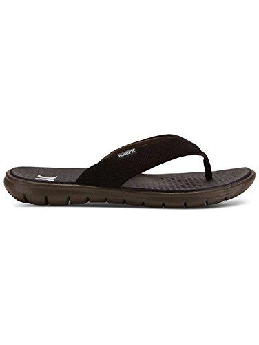 7c4542ad80e Hurley Men s Flex 2.0 Sandal Black White Olive 10 D US