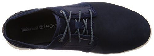 Timberland Graydon Leather, Scarpe Stringate Oxford Uomo Blu (Black Iris Nubuck 019)