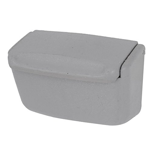 Gray Plastic Rectangle Shaped Car Smokeless Cigarette Ashtray Holder