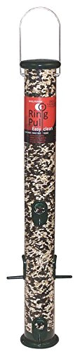 Droll Yankees RPS23G 23-Inch Ring Pull Tube Seed Feeder, Forest Green
