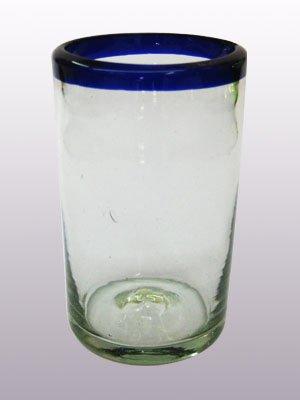 cobalt rim glassware - 2