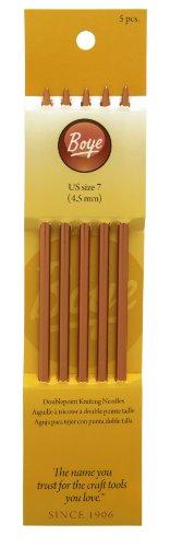 Boye 7-Inch Aluminum Double Point Knitting Needles, Size 7 ()