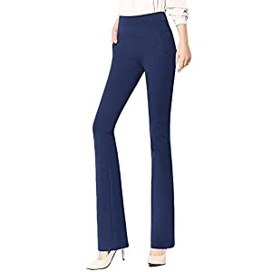 ABCWOO Womens Stretch Yoga Dress Pants for Office Work,High Waisted and Barely Flare 24